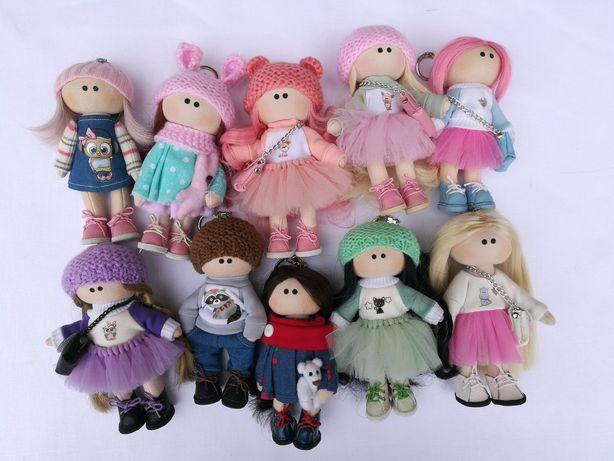 Куколка брелок ручной работы.Тильда.Кукла брелок.Лялька.