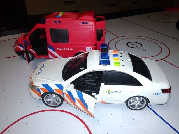 Straż pożarna, policja, auta z dźwiękiem