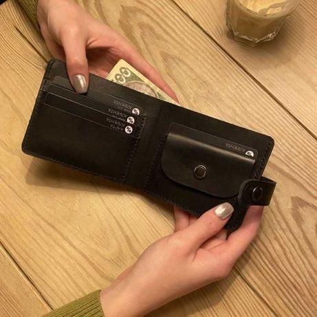 Кожаный мужской кошелек Портмоне с мелочью Подарок мужу Balier