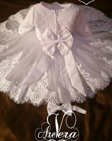 Нарядное детское платье на годик праздничное на девочку дочку пышное