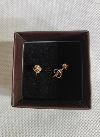 Kolczyki złote - różyczki