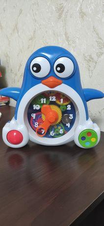 Часы детские пингвин