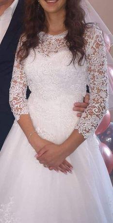 Suknia ślubna 34-36. Sweterek GRATIS!