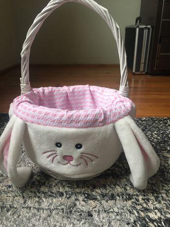 Koszyczek wiklinowy dziecięcy - koszyk królik home and you