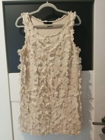 Sukienka H&M pudrowy róż sexi krótka