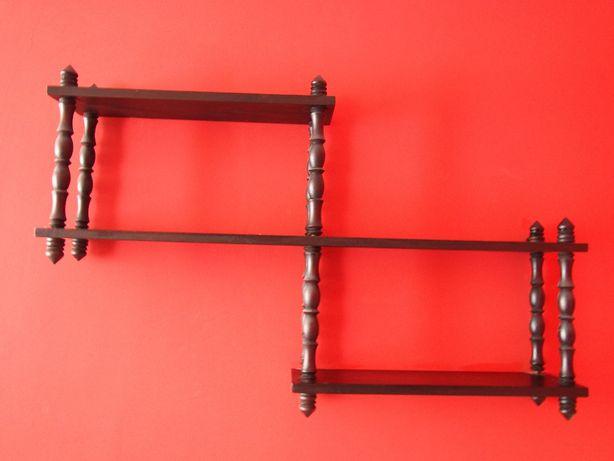 Półka drewniana dwupoziomowa