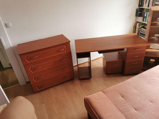 Komplet pokoj dziecka/sypialnia komoda, 2x regał, stolik nocny, biurko