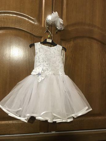 Платье «Снежинка» на 3-4 года