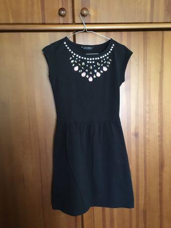 Czarna sukienka z kryształkami Dorothy Perkins r. 36