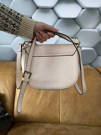 Beżowa damska torebka
