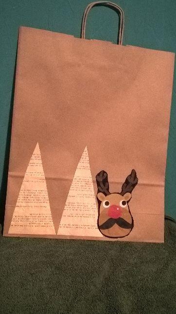 ekologiczne torby świąteczne handmade