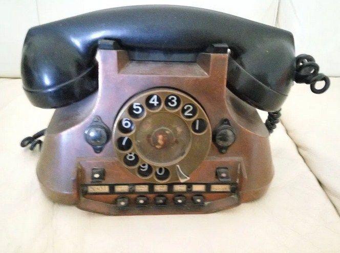 Telefon Kolekcjonerski ANTYK Mosiężny, z Mosiądzu Kraków - image 1