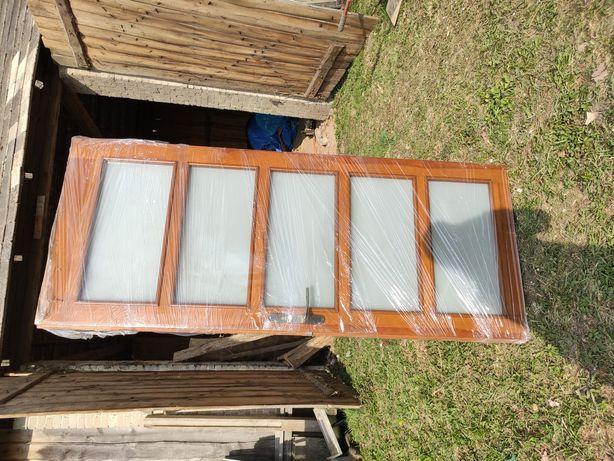 Drzwi wewnętrzne drewniane 5 szyb