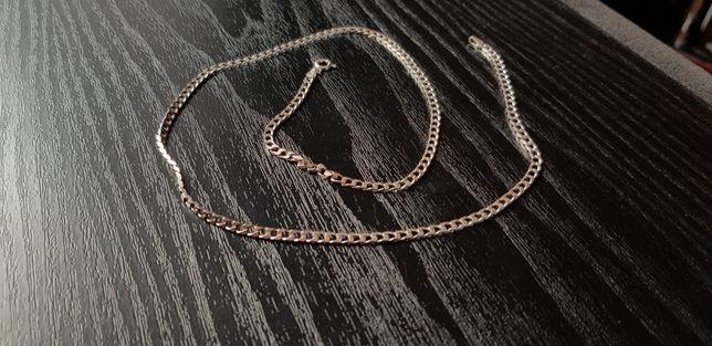 Srebrny łancuszek, 52 cm, próba 925