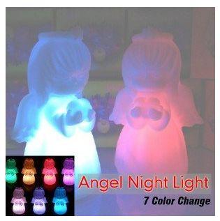 Lampka nocna LED Anioł Aniołek do pokoju dziecka 7 kolorów świecenia