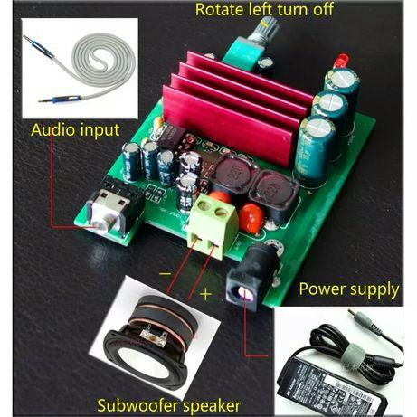Усилитель мощности , сабвуфер. 100 Watt. TPA3116 +NE5532 предусилитель