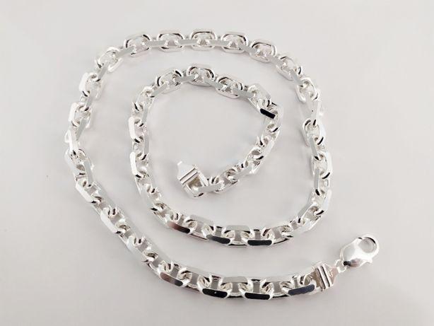 łańcuch Ankier diamentowany(klepany) 65 cm. 75,8 g .duży męski masywny