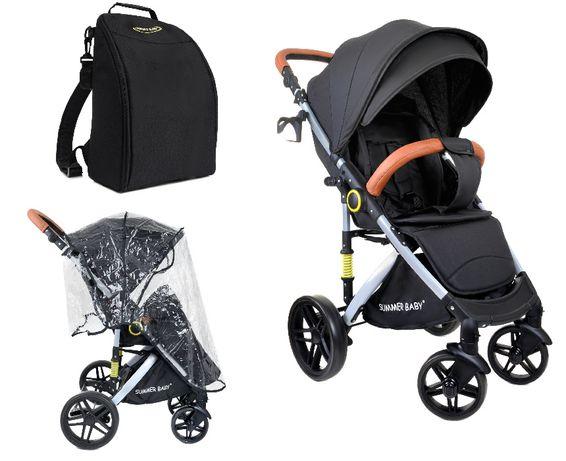 Wózek spacerówka SUMMER BABY model SEMPRE duże koła + TORBA