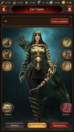 Продам Аккаунт Vikings war of clans дом 35 уровня 400 в фул т 7