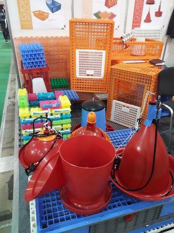 Ящики для перевозки птицы, кормушки, поилки линии, пластиковые полые п