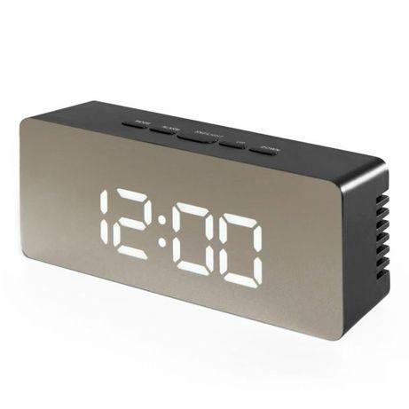 Часы настольные электронные зеркальные Losso Premium с LED подсветкой