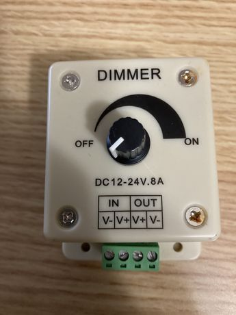 Led dimmer interruptor dc 12 v 24 v 8a - Novo