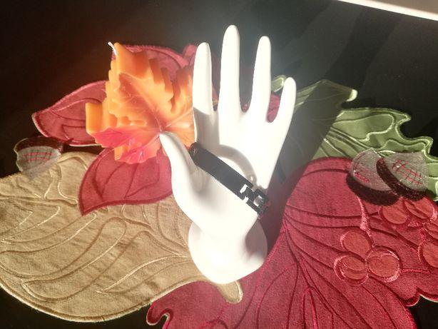 Męska czarna bransoleta bransoletka