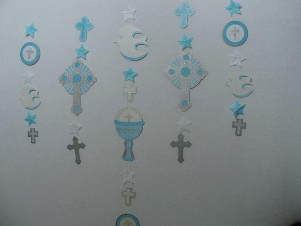 Komunia ozdoby dekoracje okna Girlanda papierowa