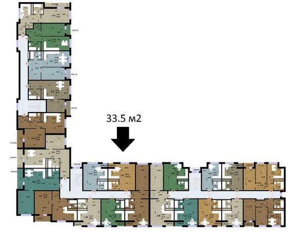 Без комиссий! 1к Квартира с Документами 34 м2 ЖК Parkland Park Land