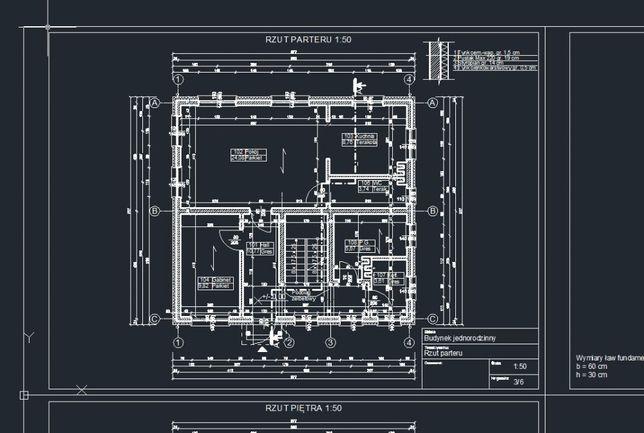Inwentaryzacja usługi projektowe rysunki techniczne projekt AutoCAD