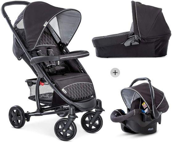 Hauck wózek wielofunkcyjny 3w1 Malibu 4 Trioset od 0-25kg Black-Silver