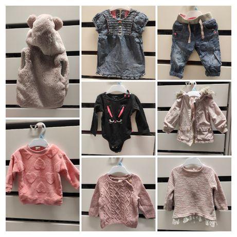Paka dla dziewczynki 68 74 ubranka 20szt, Adidas, H&M, Next, M&S
