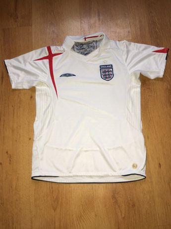 Biała bluzka na krótki rękaw t-shirt piłkarska Umbro England