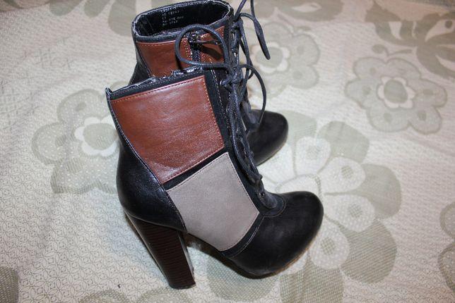 Ботильоны ботинки на каблуке полусапожки 34-35 размер