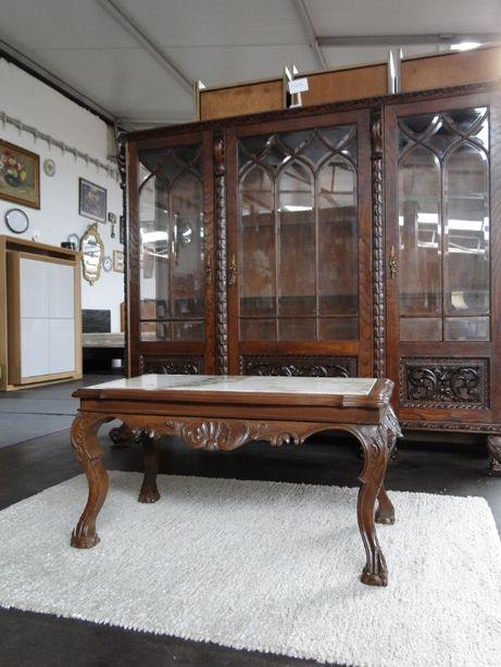 Mesa de centro madeira com tampo em pedra - Antiga mas em óptimo esta