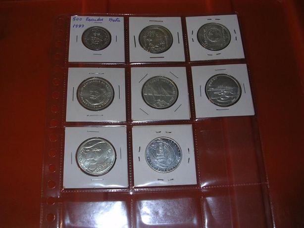 Moedas de 500$00 novas em prata à escolha