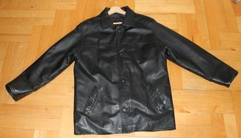 Ramoneska skórzana kurtka męska rozmiar M