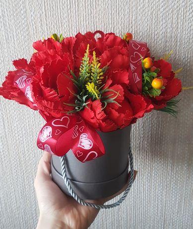 Pachnący Flower Box Bukiet w pudełku tulipany wiosna