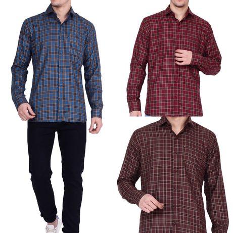 Импортная мужская рубашка, индийский хлопок