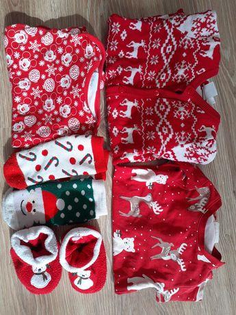Świąteczne body kombinezon kappahl zestaw Boże Narodzenie 62