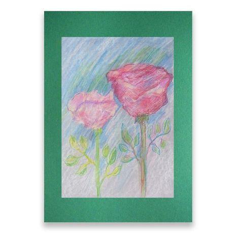 róże pastele,róże obraz,dwie róże rysunek pastel,obrazek z różami szki