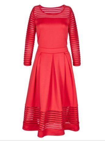 Красное платье размер 46