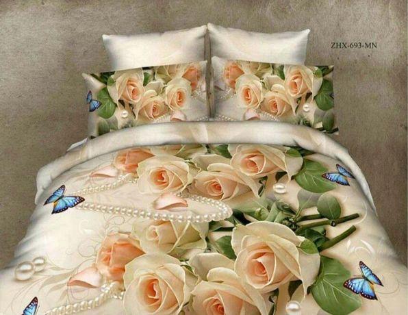 Постельное двухспальное бу