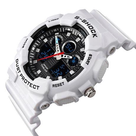 Zegarek S-SHOCK 3 kolory czerwony biały czarny - wygląd jak G piękny