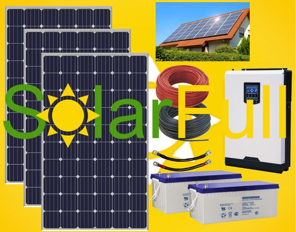 Kit – 3.000w habitação painel fotovoltaico solar pico 6 kw Prd. 1005wh