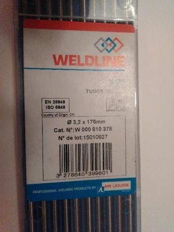 elektrody wolframowe TIG 3,2 / 175 zielone do aluminium