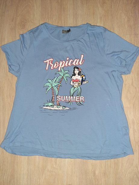 koszulka lawendowa hawaii tropical summer yessica palmy laleczka