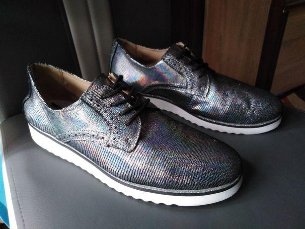 Piękne buty Victoria Schwarzer Comfort rozmiar 41, wkładka 27 cm