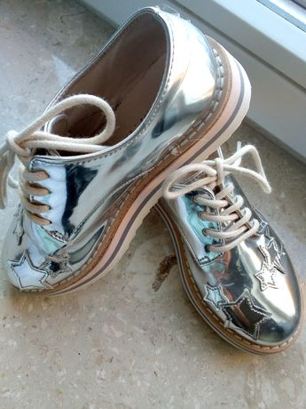 R 29 Piękne srebrne metaliczne JAK NOWE Zara
