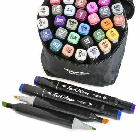 Набор скетч-маркеров 36 шт для рисования, двусторонние Touch